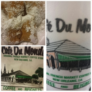 Beignets and Cafe Au Lait from Cafe Du Monde